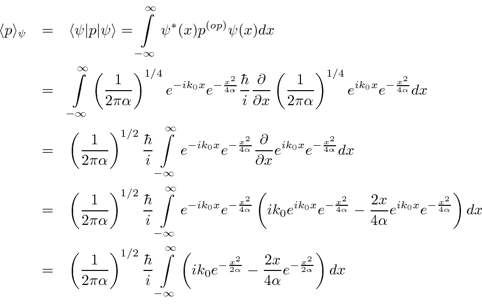 Expectation Value Of Momentum In A Given State