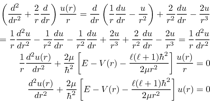 the radial equation for