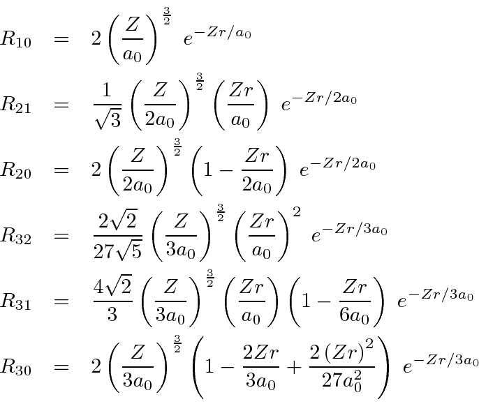 The Radial Wavefunction Solutions