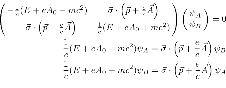 The Two Component Dirac Equation